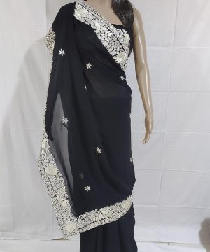 Black gara saree