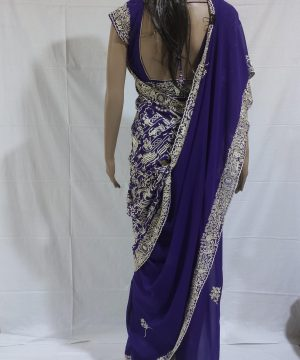 purple gara saree