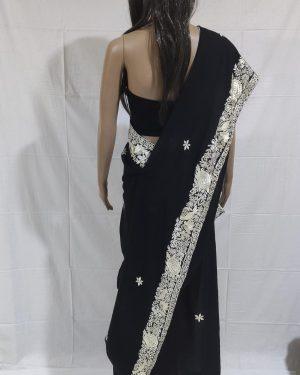 Black gara saree