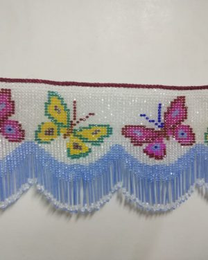 Crystal beeds butterfly toran