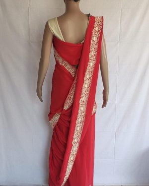 Red colour gara Saree